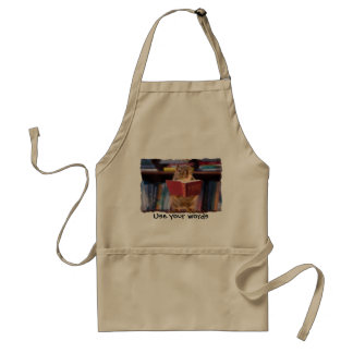 Smart Squirrel Reading a Dictionary Apron