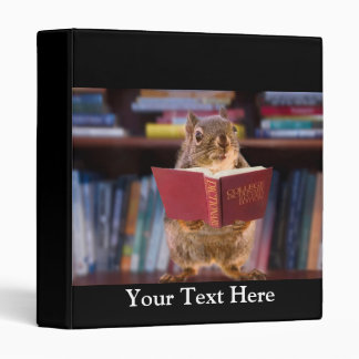 Smart Squirrel Reading a Dictionary Vinyl Binders