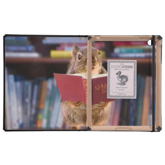 Smart Squirrel Reading a Dictionary Cover For iPad