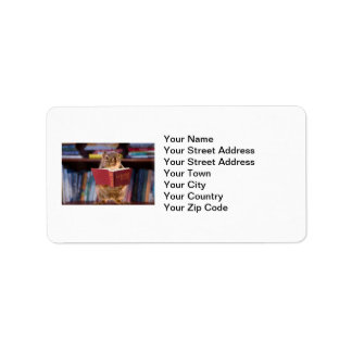 Smart Squirrel Reading a Dictionary Personalized Address Label