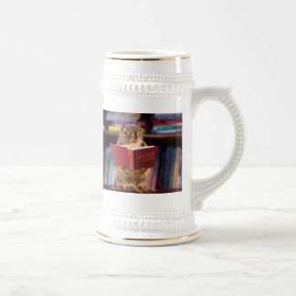 Smart Squirrel Reading a Dictionary Mugs