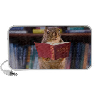 Smart Squirrel Reading a Dictionary Travel Speakers