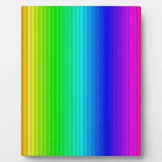smart stripes rainbow display plaque