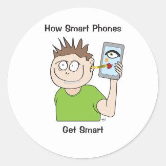 Smart-teléfono Pegatina Redonda