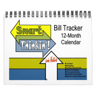 """Smart Thinkin"" Bill Tracker Undated 2pg Calendar"