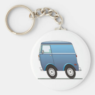 Smart Van Blue Llavero Redondo Tipo Pin