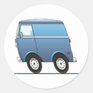 Smart Van Blue Pegatina Redonda