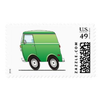 Smart Van Green Postage Stamp