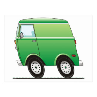 Smart Van Green Postcard