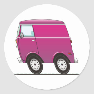 Smart Van Pink Pegatina Redonda