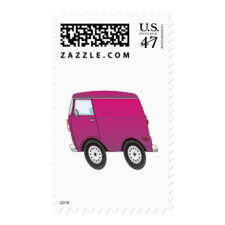 Smart Van Pink Postage Stamp