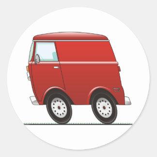 Smart Van Red Pegatina Redonda