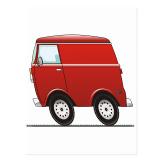 Smart Van Red Postcard