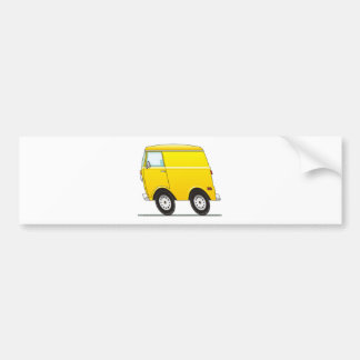 Smart Van Yellow Bumper Sticker