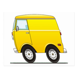 Smart Van Yellow Postcard