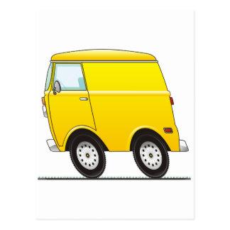 Smart Van Yellow Postcard