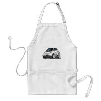 Smart White Car Adult Apron