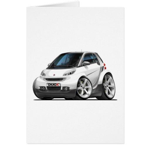 Smart White Car Greeting Card