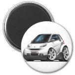 Smart White Car Magnet
