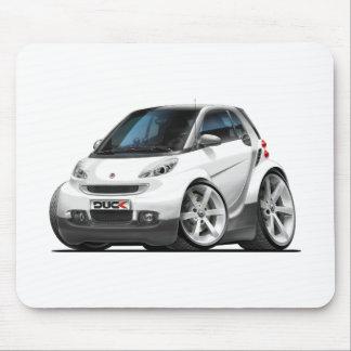 Smart White Car Mouse Pad