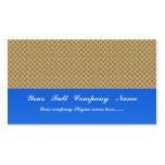 Smart white flower with wavy petals on rough brown business card