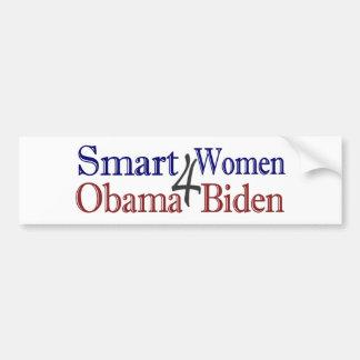 Smart Women for Obama Biden Car Bumper Sticker
