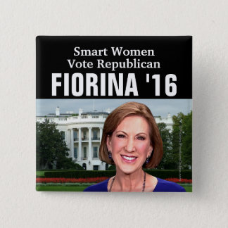 Smart Women Vote Republican Carly Fiorina 2016 Pinback Button