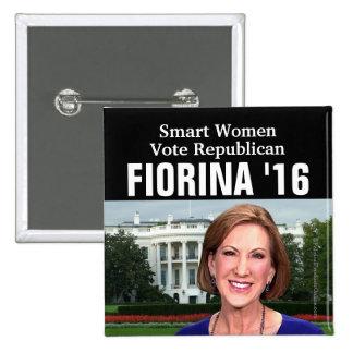 Smart Women Vote Republican Carly Fiorina 2016 Pinback Button