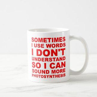 Smart Words Funny Mug