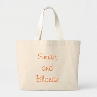 Smart y Blonde Bolsa De Tela Grande