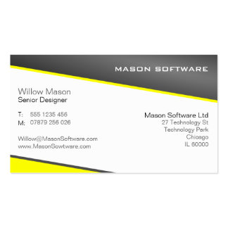 Smart Yellow and Gray Professional Business Card