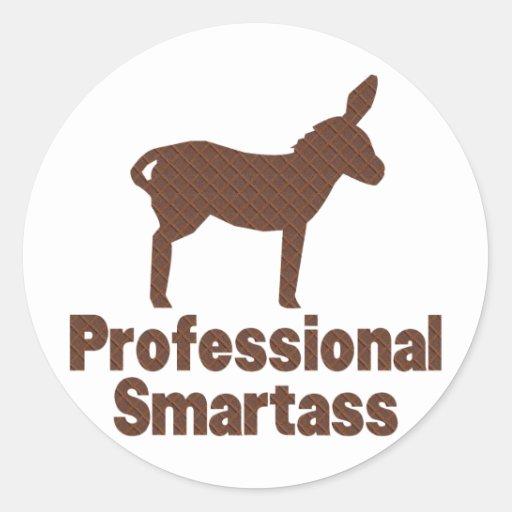 Smartass profesional pegatinas redondas