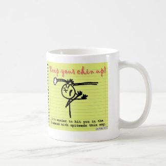 Smartasses - guarde a su Chin para arriba Taza De Café