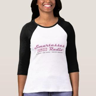 Smartasses Radio Baseball T-Shirt (white)