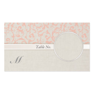 SmartElegance Coral Guest Name Card Business Card Template