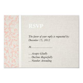 SmartElegance Coral RSVP 3.5x5 Paper Invitation Card