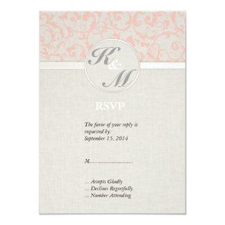 SmartElegance Coral RSVP 4.5x6.25 Paper Invitation Card