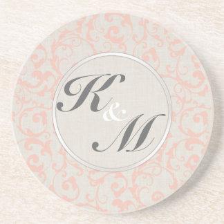 SmartElegance Coral Wedding Collection Coaster