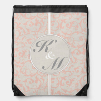SmartElegance Coral Wedding Collection Drawstring Backpack