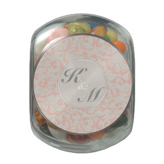 SmartElegance Coral Wedding Collection Glass Candy Jars