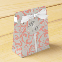 SmartElegance Coral Wedding Favor Boxes