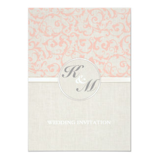 SmartElegance Coral Wedding Invitation (P)