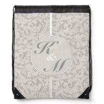 SmartElegance Grey Wedding collection Drawstring Bag
