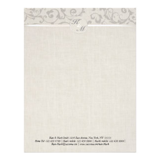 SmartElegance Grey Wedding collection Letterhead