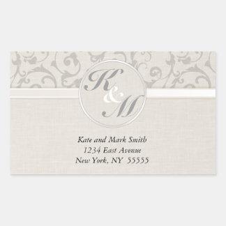 SmartElegance Grey Wedding collection Rectangular Sticker