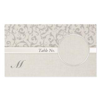 SmartElegance Grey Wedding Guest Name Card Business Card