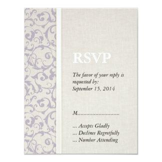 SmartElegance Lavender RSVP 4.25x5.5 Paper Invitation Card