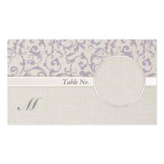 SmartElegance Lavender Wedding Guest name Card Business Card Template