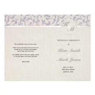 SmartElegance Lavender Wedding Order Of Service Flyer