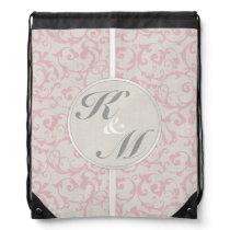 SmartElegance Pink Wedding Collection Drawstring Backpack